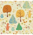 Seamless pattern in childish cartoon style vector