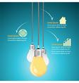 Creative template with light bulb vector