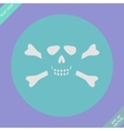 Skull and bones - a mark of the danger warning vector