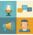 Podcast concepts in flat style vector