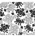 African indigenous seamless wild animal texture vector