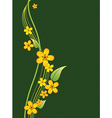 Bouquet of yellow flowers on a green background vector