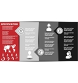 Infographic modern template 2 second edition vector