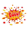 Boom comics icon vector