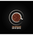 Coffee cup time clock concept design background vector