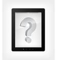 Tablet pc question concept vector