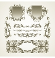 Antiquated ornate patterns vector