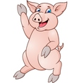 Funny pig cartoon vector