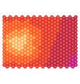 Abstract hexagons vector