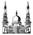 Symbol of islam silhouette of mosque ramadan vector