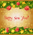 Happy new year card christmas background vector