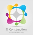 Construction business icon vector