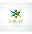 Christmas snowflake company logo design vector