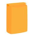 Orange flour package vector