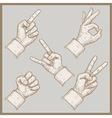 Five hands vector