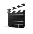 Black cinema clapper isolated vector
