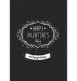 Vintage love greeting card vector