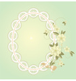 Background with lace frame vector