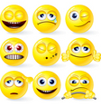 Set of yellow smileys 3 vector