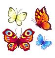 Bright butterflies vector