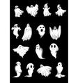 White halloween ghosts vector