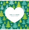 Holiday christmas trees heart silhouette pattern vector