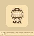 Globe symbol news symbol news icon globe planet vector