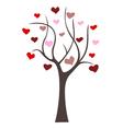 Love tree icon vector