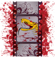 Action film strip vector