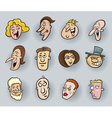 Cartoon people faces vector
