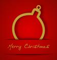 Christmas gold ball applique vector