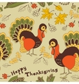 Seamless with turkey for thanksgiving vector