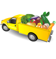 Fruit truck vector