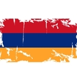 Armenian grunge flag vector