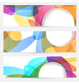 Collection of bright abstract design cards vector