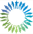Green and blue people vector