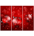 Christmas red balls background 10 2 v vector