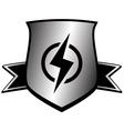 Shield with lightning - power symbol vector