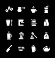 Set icons of coffee vector