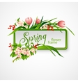 Spring frame with flowers vector