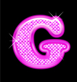 G letter pink bling girly vector
