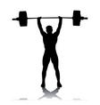 Silhouette of the weightlifter vector