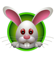 Cute rabbit head cartoon vector