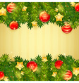 Christmas invitation golden card vector