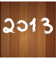 2013 year white on wood  eps8 vector