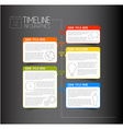 Infographic dark timeline report template with vector