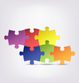 Abstract colored group puzzle background vector