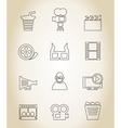 Movie outline icon vector