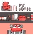 Furniture banner sketch vector