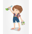 Boy painting vector